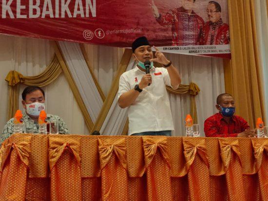 Cawali Surabaya Eri Cahyadi Komitmen Perbesar BOPDA untuk Sekolah Swasta