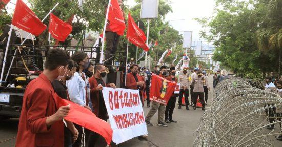 Lagi, Mahasiswa Malang Raya Demo Tolak  UU Cipta Kerja
