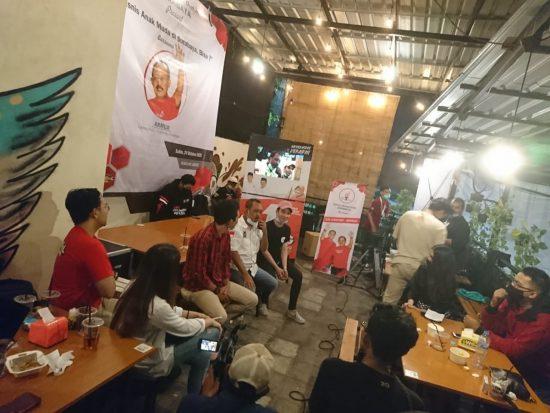 Malam Mingguan, TMP Ajak Cawawali Kota Surabaya Armuji Diskusi Bareng Anak Muda