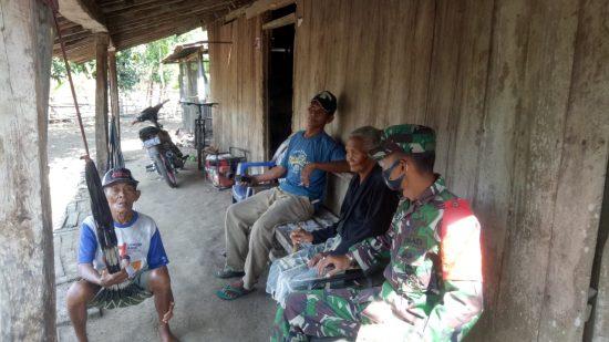 Bati Koramil 0814/09 Kudu Jombang Laksanakan Komsos dengan Masyarakat