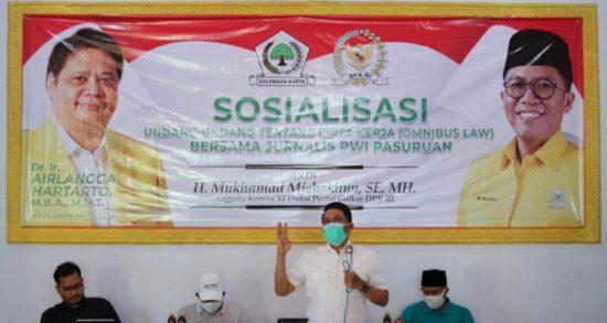 Gandeng PWI Pasuruan, Wakil Rakyat Sosialisasikan UU Cipta Kerja
