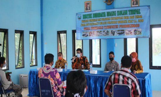 Diskan Bimtek Budidaya Udang Kolam Terpal di Kraksaan Kabupaten Probolinggo
