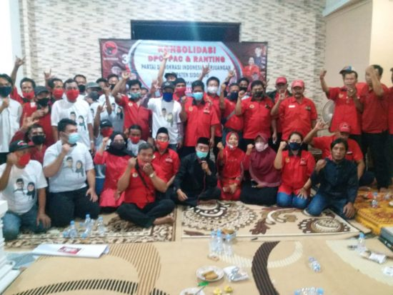 DPP-DPD Suport DPC PDIP Sidoarjo Konsolidasi Pemenangan Paslon Kelana-Astutik