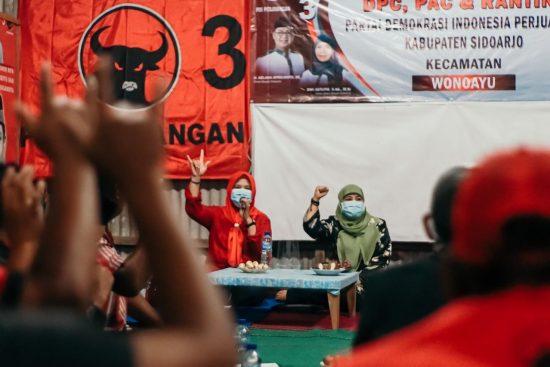 Kader PDIP Sidoarjo Satu Komando, Menangkan Paslon Kelana-Astutik