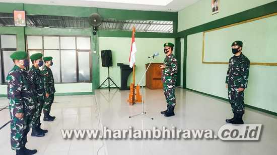 56  Personel  Kodim  0813  Bojonegoro  Naik  Pangkat