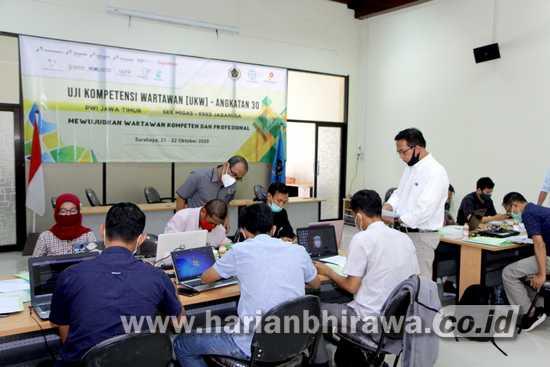 PWI Jawa Timur Gelar UKW dengan Terapkan Protokol Kesehatan