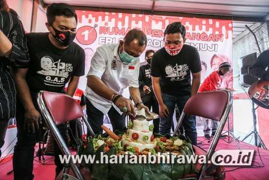 Putra Risma Resmikan Posko Menangkan Eri Cahyadi di Pilkada Surabaya