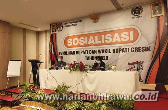 KPU Gresik dan PWI Sosialisasikan Pilbup untuk Gaet Partisipasi Publik