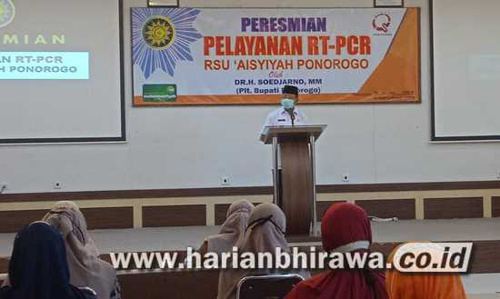 Plt Bupati Ponorogo Resmikan Pelayanan RT-PCR RSU Aisyiah