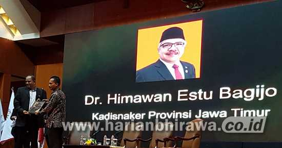 Disnakertrans Provinsi Jawa Timur Raih Apresiasi Aspataki Award 2020