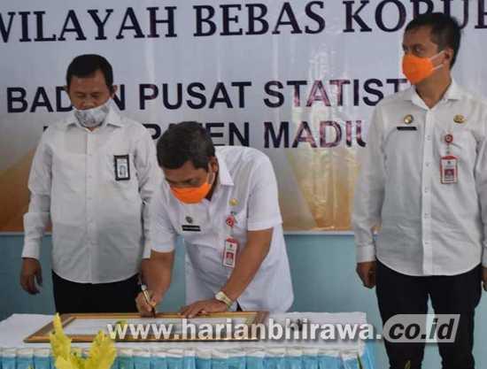 Sekda Dukung Pencanangan Pembangunan Zona Integritas di BPS Kab Madiun