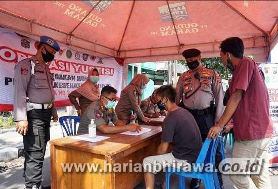 Patroli Gabungan Kota Kediri Gelar Operasi Yustisi Disiplinkan Prokes