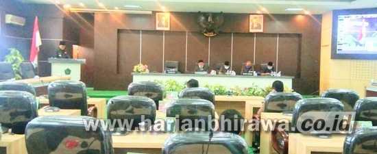 Paripurna Dewan, Raperda Penyertaan modal Daerah Ke PDAM dan RAPBD TA 2021