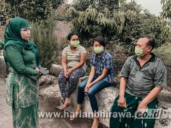 Cawabup Sidoarjo Dwi Astutik Kunjungi  Korban Bencana Puting Beliung