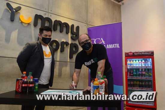"Amatil X Berinvestasi pada "" Start-Up Cloud Kitchen Yummy Corp """