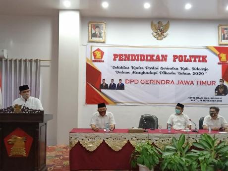 Gerindra Solidkan Struktur Partai Untuk Pemenangan BHS di Sidoarjo