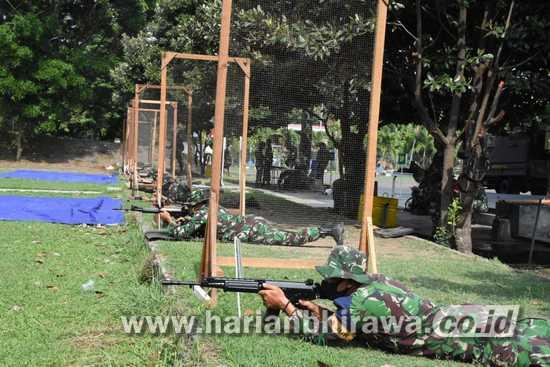Korem 084/BJ Bentuk Profesioanlisme Prajurit dengan Latihan Tembak