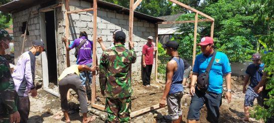 Misi Kemanusiaan, Koramil 0809/08 Kras bersama WKK Bedah Rumah Warga