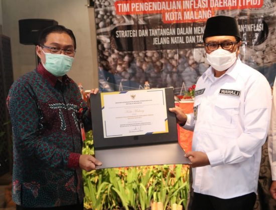 Pengendalian Inflasi Kota Malang Ranking Tiga