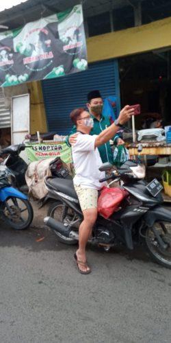 Cawabup Nomor Urut 2 Subandi Blusukan di Pasar Betro hingga Wedoro Sidoarjo