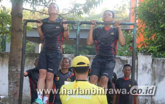 Anggota Kodim 0814 Jombang Ikuti Tes Kesamaptaan Kesegaran Jasmani