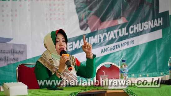 Ning Ema Sosialisasikan Empat Pilar Kebangsaan pada WPP Jombang