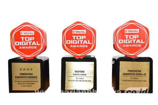 Sidoarjo Raih 4 Penghargaan di Ajang Top Digital Awards 2020