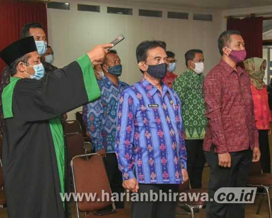 Wali Kota Kediri Ambil Sumpah Janji 132 Pejabat