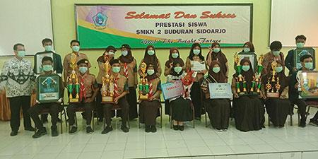 SMKN 2 Buduran Borong Prestasi di Tengah Pandemi
