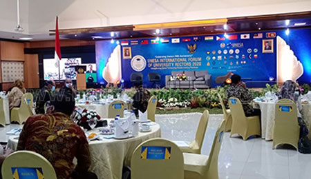 Bahas Pendidikan di Masa Pandemi, Unesa Gelar Forum Rektor International
