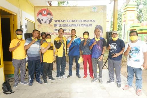 Relawan Muhammad Ali Ridha Dukung Fattah Jasin di Pilbup Sumenep dengan Senam Sehat