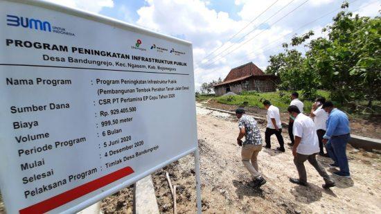 Peningkatan Infrastruktur Publik Rampung, Warga Bandungrejo Bojonegoro Lancar Beraktifitas