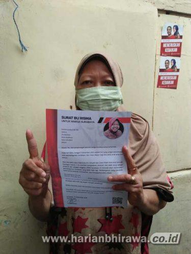 Surat Bu Risma untuk Warga Surabaya, Tim Eri Cahyadi-Armudji: Kita Jemput Kemenangan