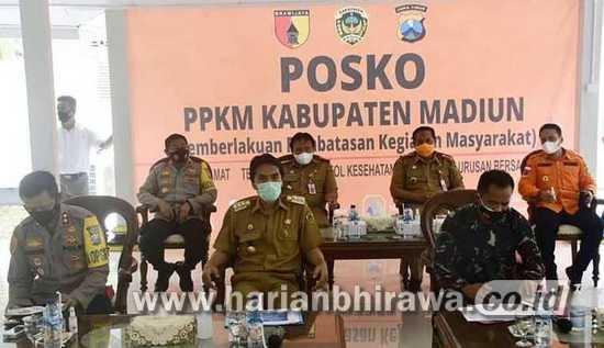 PPKM di Kabupaten Madiun Dilaksanakan Secara Maksimal