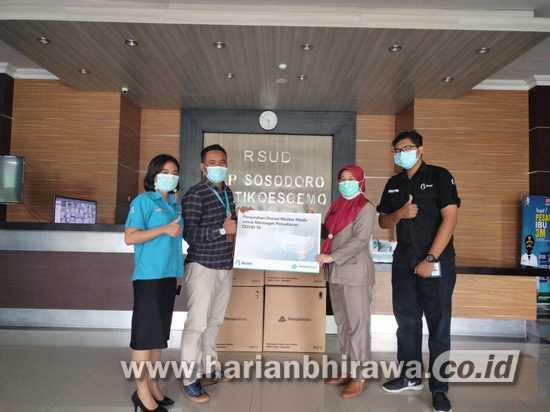 Biznet Serahkan Ribuan Masker di Kabupaten Bojonegoro