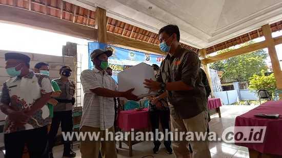 HPN 2021, PWI Kabupaten Lamongan Bantu Kesulitan Warga Lewat Baksos