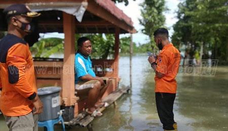 Air Sungai Meluap, Lahan Pertanian Terendam