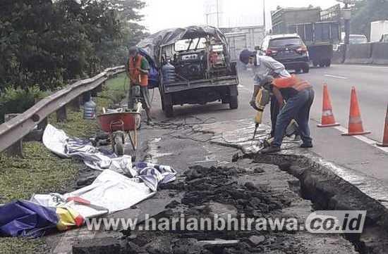 Jasa Marga Perbaiki Ruas Tol Surabaya – Gempol yang Longsor