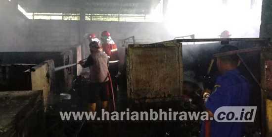 Bank Sampah Terbakar, Tiga Motor Operasional Pemkot Pasuruan Ludes
