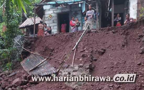 Tebing Desa Lubawang Longsor, Kerugian Puluhan Juta Rupiah di Situbondo