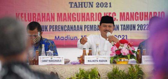 Wali Kota Madiun Beri Arahan Geliatkan UMKM di Musrenbang Manguharjo