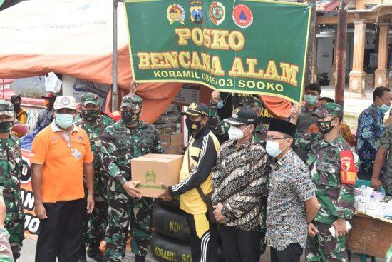 Gerak Cepat Kodim 0815/Mojokerto Ringankan Terdampak Banjir Diapresiasi Warga