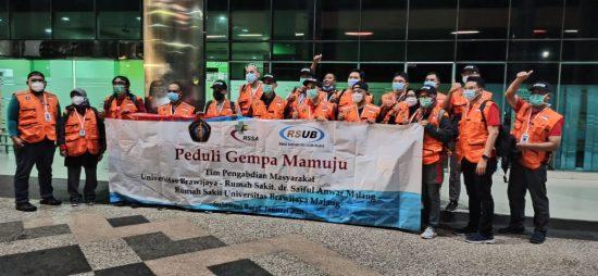 Rektor Universitas Brawijaya Prof Nuhfil Lepas 21 Nakes ke Mamuju