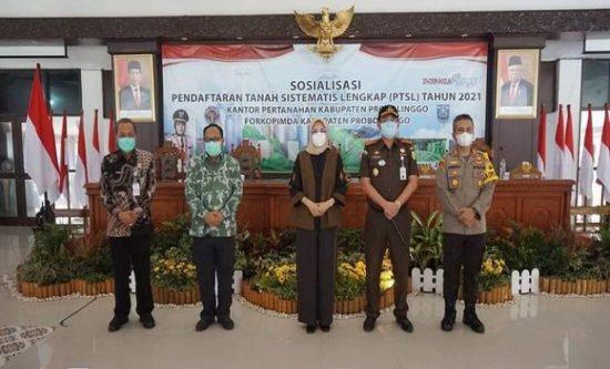Pemerintah Kabupaten Probolinggo-BPN Sosialisasikan Program PTSL