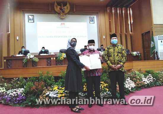 Paslon Sanusi-Didik Ditetapkan KPU Pemenang Pilkada Kabupaten Malang 2020