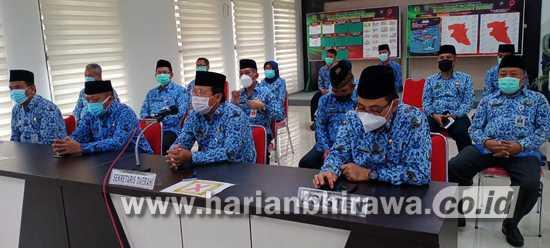 ASN Pemkab Jombang Tahlil Virtual Doakan Asisten II Yang Berpulang