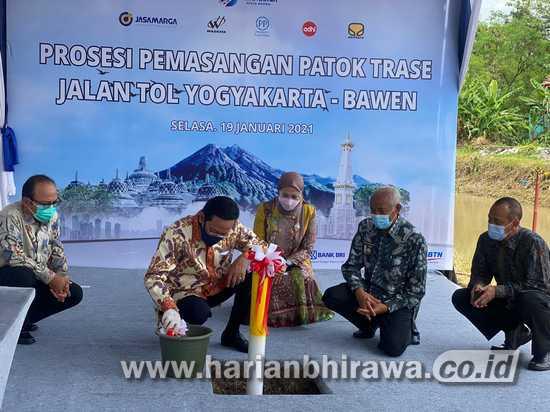 Jasa Marga Lakukan Pemasangan Patok Trase Jalan Tol Yogyakarta-Bawen