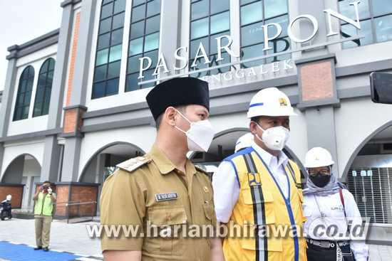 Bupati Trenggalek Berharap Kementerian PUPR Serahterimakan Pasar Pon