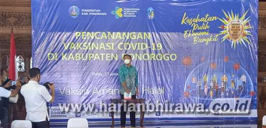 Bupati Ponorogo Launching Pencanangan Vaksinasi Covid-19