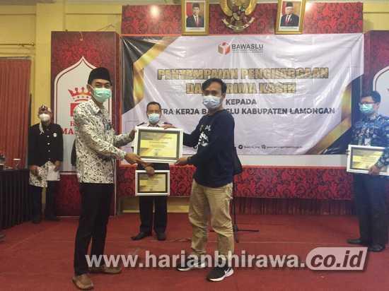 Badan Pengawas Pemilu Kabupaten Lamongan Apresiasi Peran serta Jurnalis